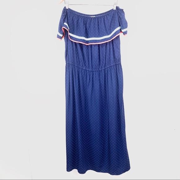 Blue maison Jules Womens Fiesta Off-Shoulder Dress Small